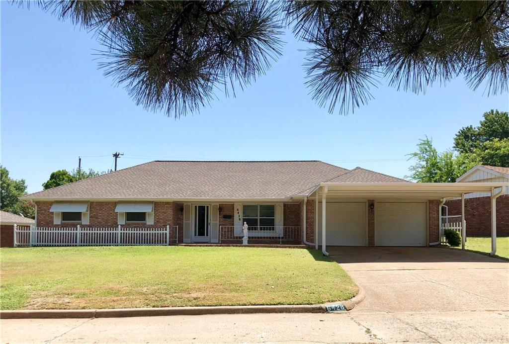 Rare **GEM** in NW OKC! This darling house has so many extras and so much potential. One-owner home - they really made it efficient and usable! Features triple pane doors and windows throughout. Attic is ENTIRELY floored and insulated top and bottom to protect all your belongings - you could hang out up there! Main living room/family room has parquet flooring that is AMAZING. Sunroom add-on has hotel-grade Heat/Air and wall-to-wall side-slide windows. HVAC is 2006 and has just been serviced and looks brand new. Hot water tank is new. Roof is 2017 Timberline Armorshield II Tiger Paw Pro-Start Z Ridge with warranty plus all new guttering. Big beautiful back yard with TWO outbuildings - one 10x10 storage shed and one 26x10 that was used as an office and has electric and air plus new roof and guttering. New carport! House has so much character and charm. It just needs new carpet, paint and a your kitchen/bath updates and then it will ROCK THE NEIGHBORHOOD.