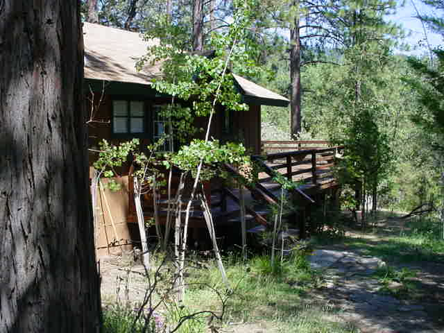 Adorable & comfortable this 2 bedroom 1 bath cabin with a  sleeping loft has been remodeled and is located in the Willow Cove Area and is in walking distance to the Pines Village and shops. Rents SATURDAY TO SATURDAY No Pets and No Smoking