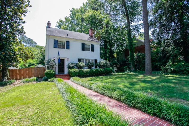 Beautiful painted brick Colonial located at the city line, but in the county. U[dated kitchen, breakfast room, formal living and dining rooms and a great family room with wet bar and 1/2 bath.Fenced back yard, new brick walk in front. Nice quiet neighborhood with great restaurants and shopping within walking distance!  Close to schools, churches and interstates too.  Come see this one!