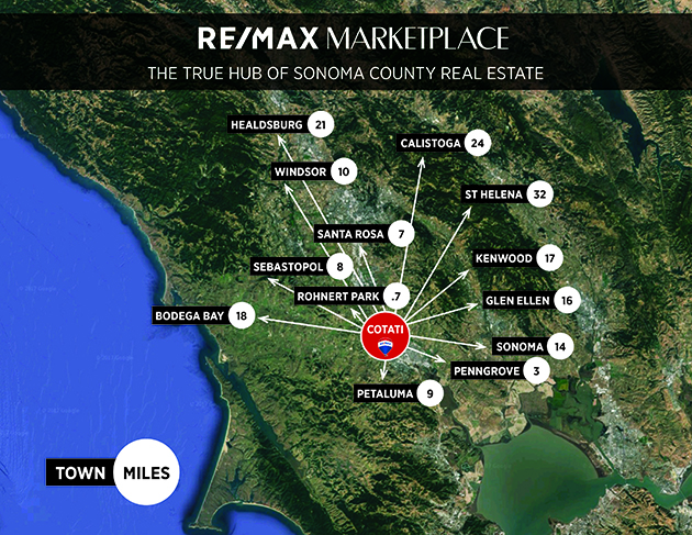 REMAX Marketplace Sonoma County's real estate hub map